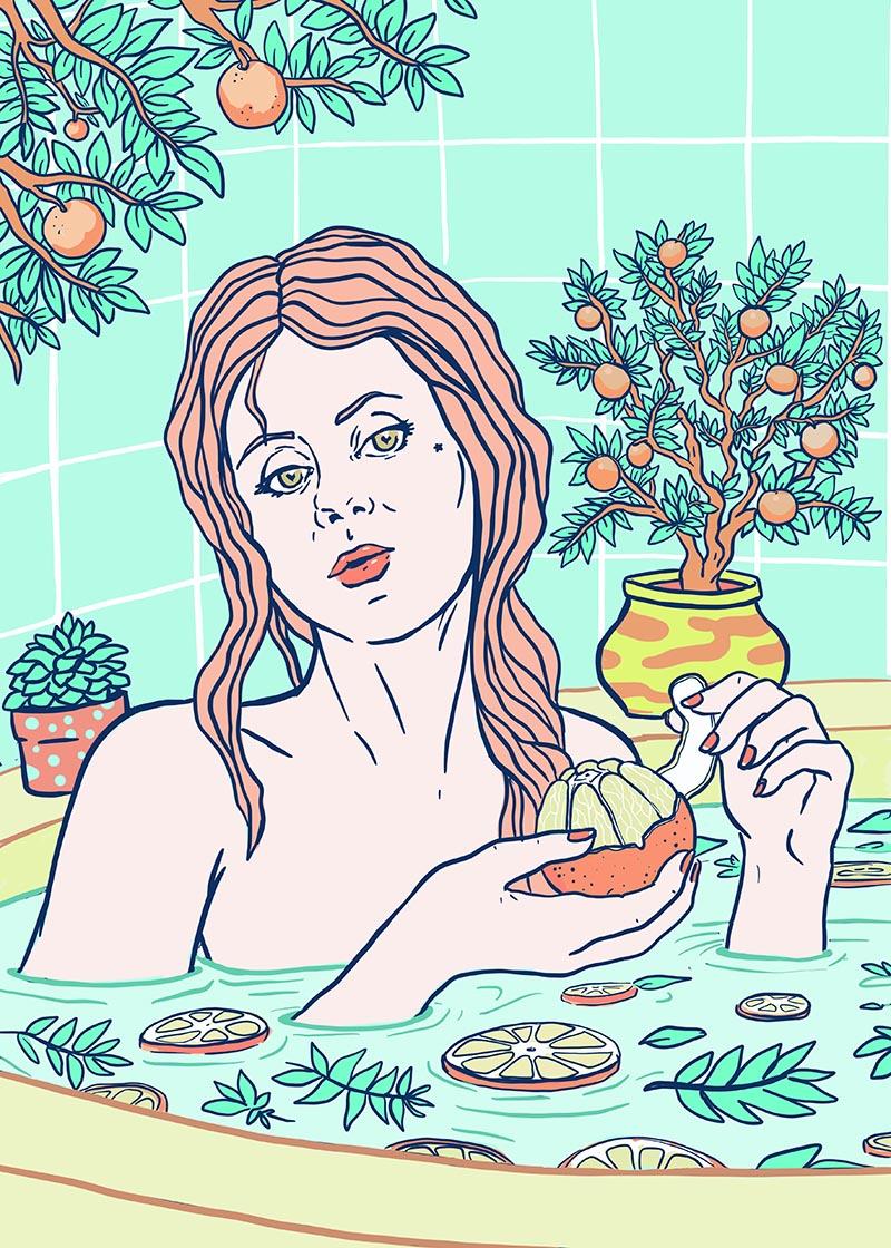 marta zubieta, aromatherapy, citrus bath